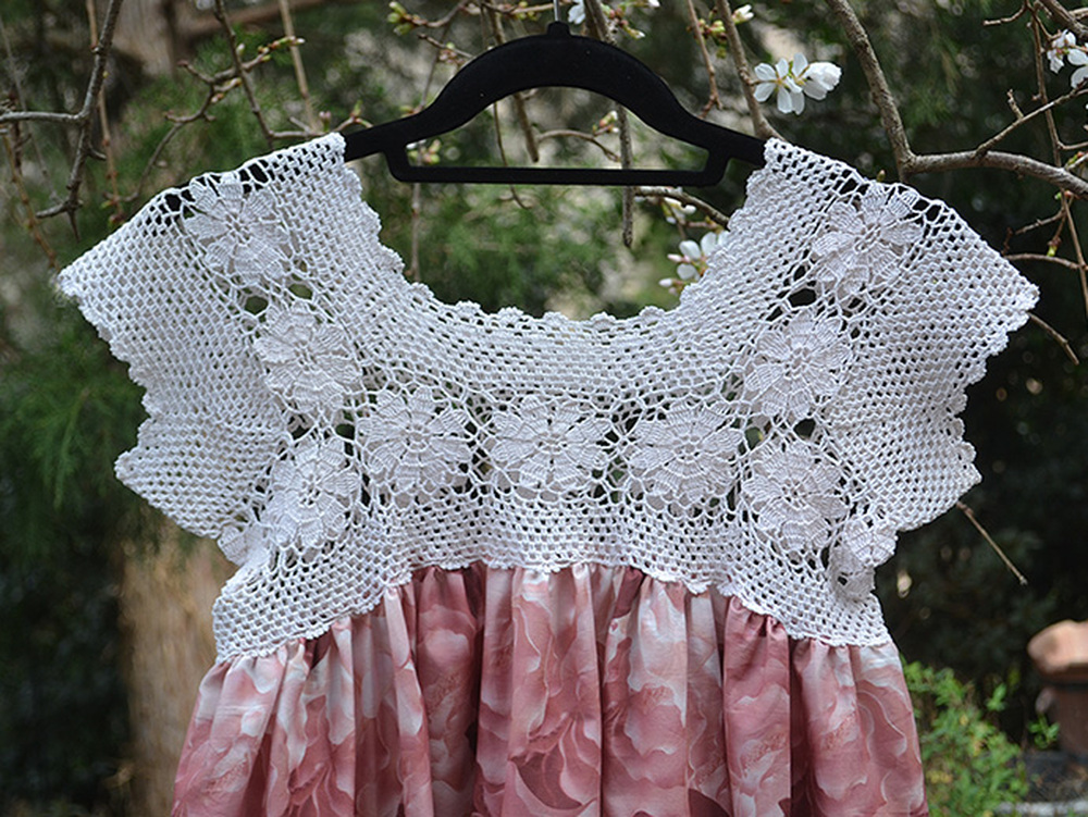 Crochet Lace Bodice Dress