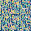 Peoplescape - Abstract Fabric By The Yard