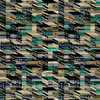 Stacked - Geometric Fabric By The Yard