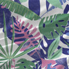 Barton Tropical Leaves Fabric by the Yard in Pink and Blue