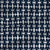 Knot Abstract Geometric Fabric by the Yard in Navy