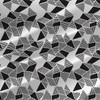 Afro Geo in Black - Geometric Fabric by the Yard