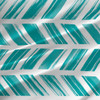 Painted Stripe - Geometric Fabric by the Yard in Teal
