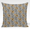 Pillow shown in Moon Flowers Mini floral fabric by Amy MacCready