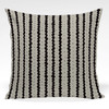 Pillow shown in Clemence Stripe (Black and Taupe colorway)