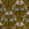 Florence abstract floral in Green colorway