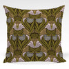Pillow shown in Florence abstract floral fabric in Green colorway