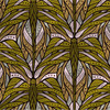 Jeanette abstract floral in green colorway