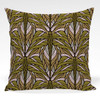 Pillow shown in Jeanette abstract floral in green colorway
