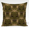 Pillow shown in Lillian abstract floral fabric in Green colorway