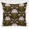 Pillow shown in Othilia abstract floral fabric in Green colorway