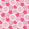 Orbit - Geometric Fabric By The Yard - Lipstick Colorway