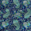 Floral Paisley - Floral Fabric By The Yard in Blue