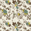 Tic Toc - Abstract Fabric By The Design