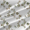 Anna Floral Fabric by the Yard in White