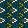 Tricky - Geometric Fabric By The Yard