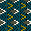 Tricky - Geometric Fabric By The Yard