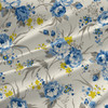 Hannah - Floral Fabric by the Yard in Azure