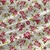 Hannah Mini - Floral Fabric by the Yard in Chartreuse colorway