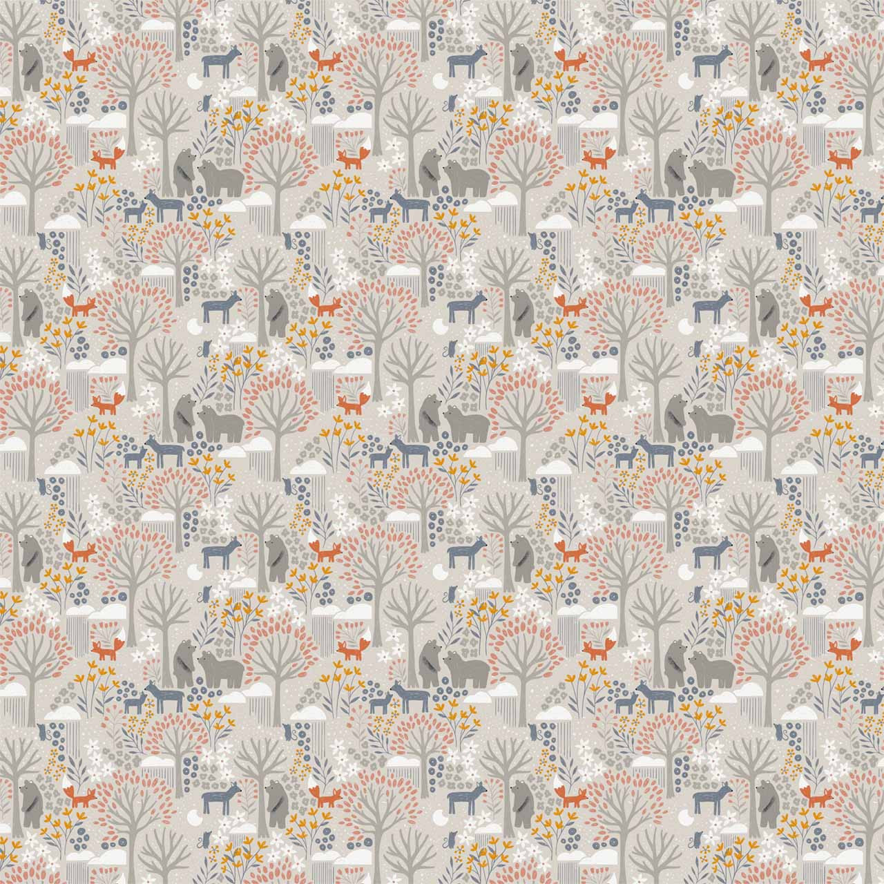 Night Forest Mini Fabric Design (Pink and Gray colorway)