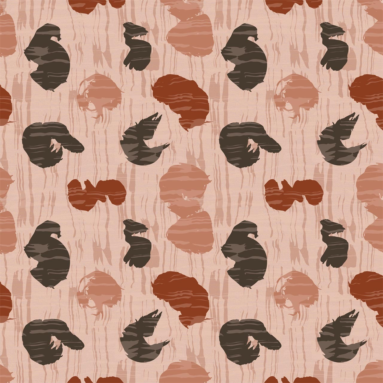 Calligraphy Water Fabric Design (Blush colorway)