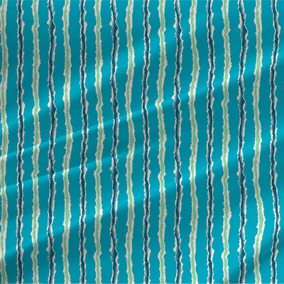 Tattered - Abstract Stripe in Ocean