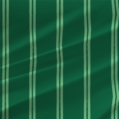 Ridgedale Stripe Fabric by the Yard in Clover Green