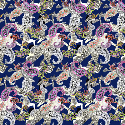 Naples - Paisley Fabric By The Yard