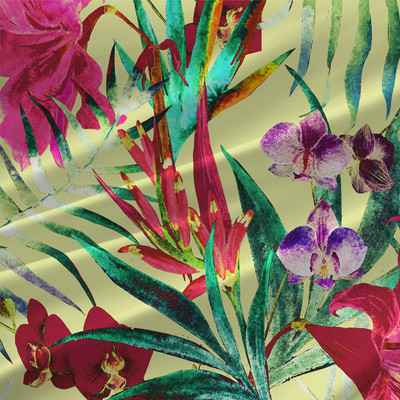 La Paz - Tropical Floral Fabric by the Yard