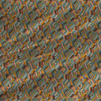Obert - Geometric Fabric by the Yard in Original