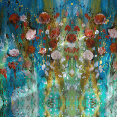 Fluid Floral - Abstract Floral by the yard