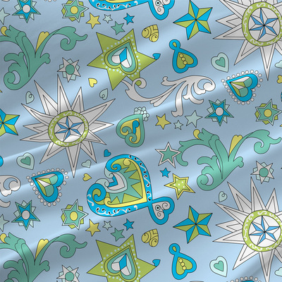 Celestial Abstract Fabric by the Yard in Moonbeam colorway