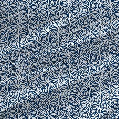 Whirlpool Mini Fabric by the Yard in Navy Colorway