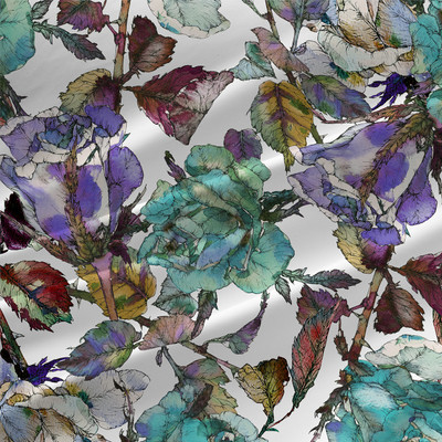 Vinter - Floral Fabric by the Yard