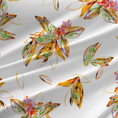 Philedendron - Floral Fabric by the Yard in Green