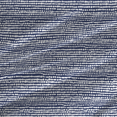 Beads Fabric in Blue