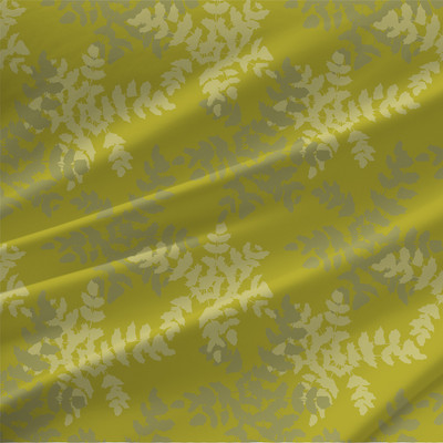 Grape Holly Grande Fabric in Chartreuse colorway.
