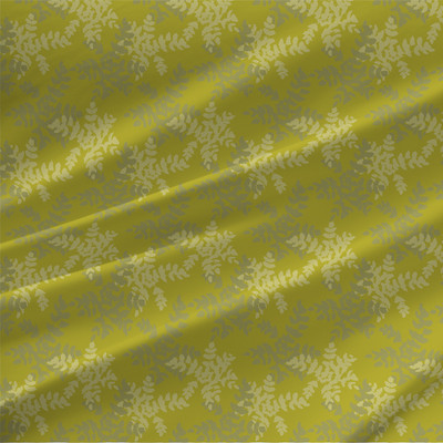 Grape Holly Fabric in Chartreuse colorway
