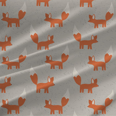 Foxes fabric by the yard