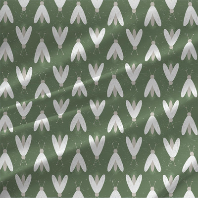 Fireflies fabric by the yard (Green)