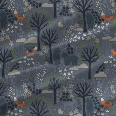 Night Forest fabric by the yard