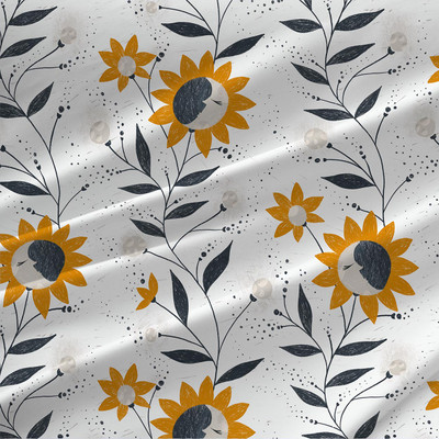Moon Flowers fabric by the yard
