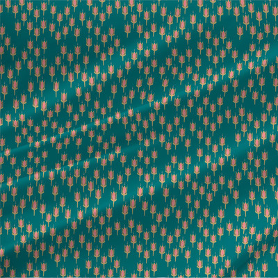 India texture fabric in Tropical colorway
