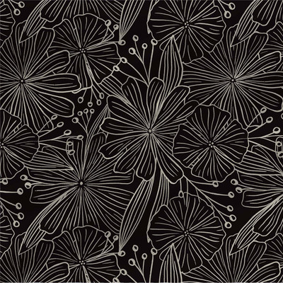 Mabel abstract floral in Black colorway