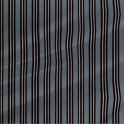 Peter Stripe fabric in Blue and Black colorway