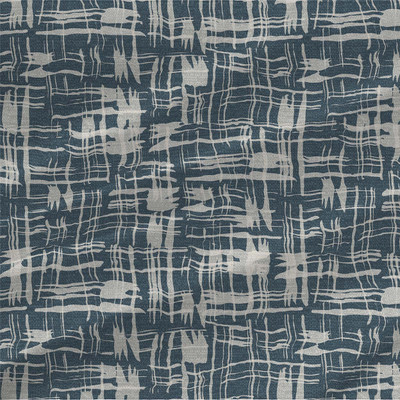 Calligraphy Plaid Fabric Design in Slate