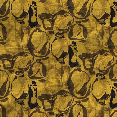 Artisan Vases Fabric Design in Golden