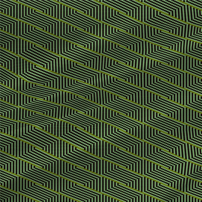 Harvest Basket Abstract in Agave colorway by Kate Blairstone