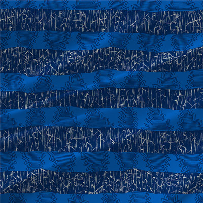 Bamboozoo Abstract Stripe Fabric by the Yard in Pacific
