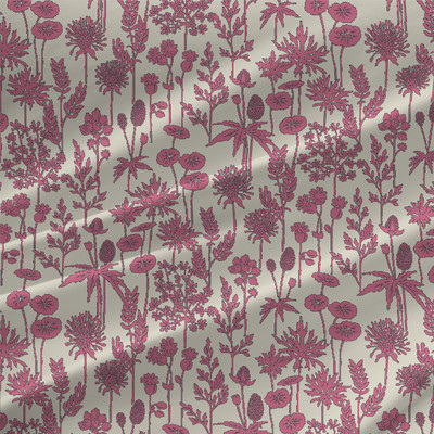 Botanica Mini Floral Fabric By The Yard in Mauve Pink